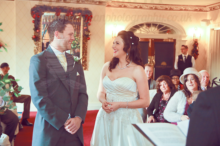 An emotional giggle during the vows
