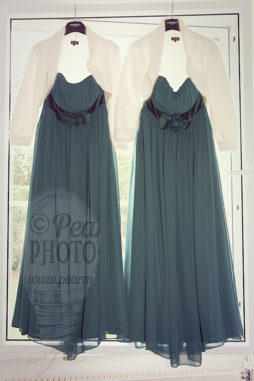Christmas Evergreen Bridesmaids Gowns