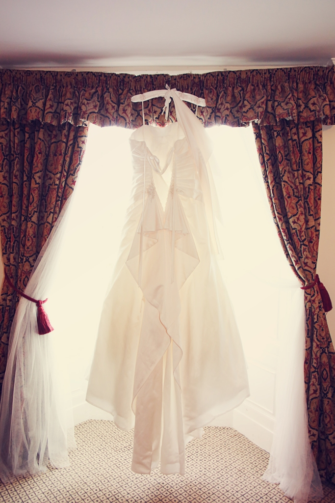 Paul McHutcheon, Laura Guthziet, Wedding Dress, Hanging up, Morning, Pre-Wedding, Preparations, Pearman Photography, Vintage