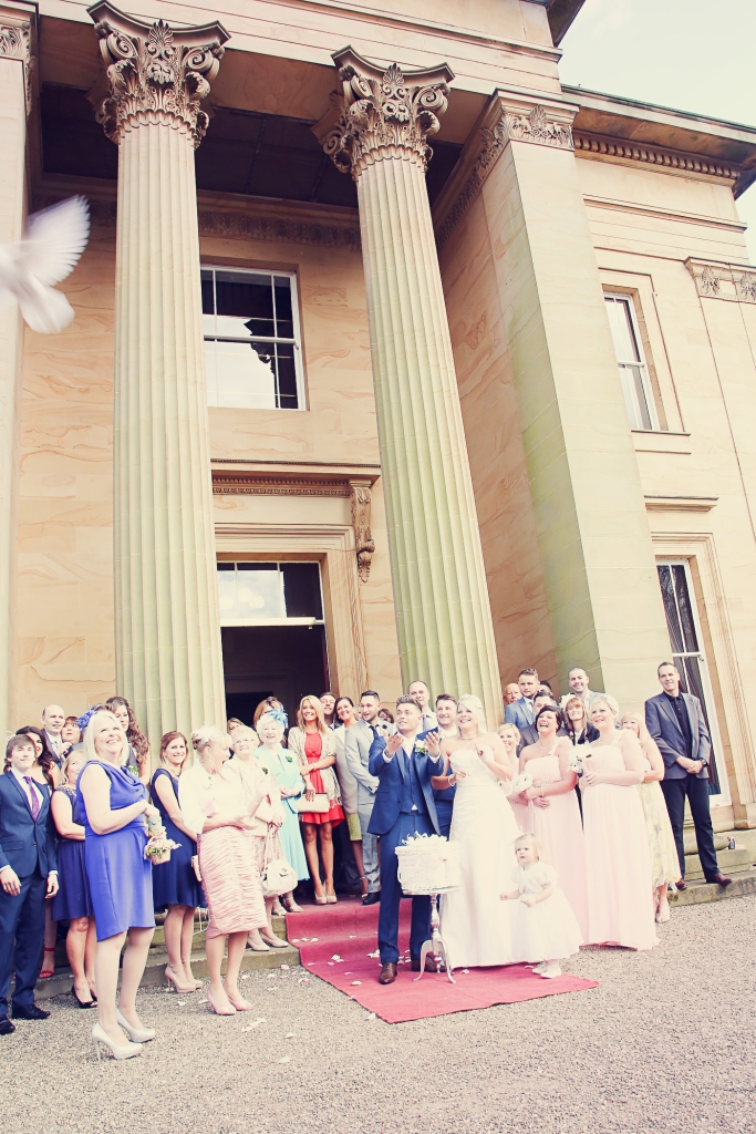 Paul McHutcheon, Laura Guthziet, Wedding Party, Releasing the Doves, Wedding Day, Pearman Photography