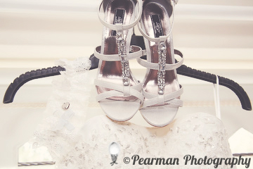 Wedding Shoes, On Gown, On Hanger, Lisa Fay, Richard Johnson, Pearman Photography, Wedding, Jesmond