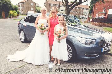 Wedding Car, Outside Brides Home, Lisa Fay, Richard Johnson, Pearman Photography, Wedding, Jesmond