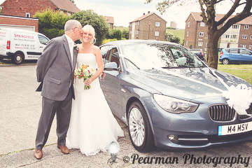 Dad, Father of the Bride, Wedding Car, Lisa Fay, Richard Johnson, Pearman Photography, Wedding, Jesmond