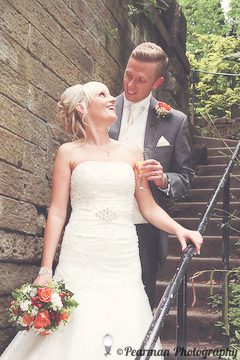 Bride and Groom, Lisa Fay, Richard Johnson, Pearman Photography, Wedding, Jesmond