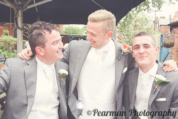 Best Men, Portrait, Laughter, Lisa Fay, Richard Johnson, Pearman Photography, Wedding, Jesmond