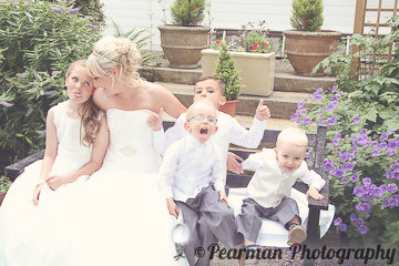 Children Portraits,  on a bench, Lisa Fay, Richard Johnson, Pearman Photography, Wedding, Jesmond