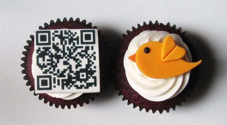 QR Code, Cupcake, Trendy, Food, Foodie