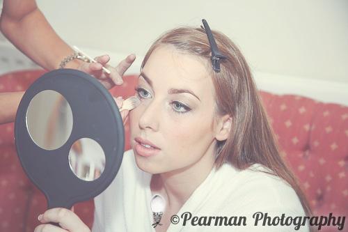 Make Up, Pearman Photography, Paige Rowland, Anthony Battista, Vintage Wedding, Kirkley Hall, Pink and White Colour Theme, Country Theme