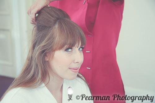 Hair, Pearman Photography, Paige Rowland, Anthony Battista, Vintage Wedding, Kirkley Hall, Pink and White Colour Theme, Country Theme