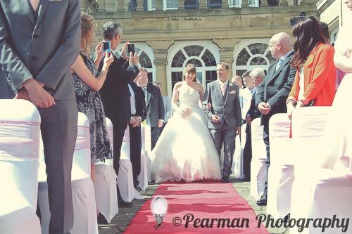 Outdoor, Aisle, Walk, Pearman Photography, Paige Rowland, Anthony Battista, Vintage Wedding, Kirkley Hall, Pink and White Colour Theme, Country Theme