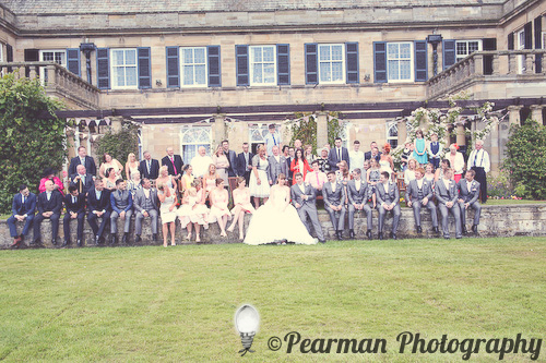 Family Portrait, Pearman Photography, Paige Rowland, Anthony Battista, Vintage Wedding, Kirkley Hall, Pink and White Colour Theme, Country Theme