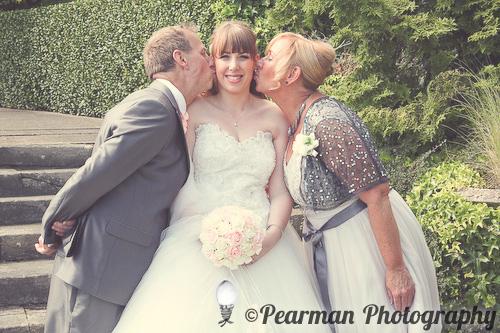 Kiss, Pearman Photography, Paige Rowland, Anthony Battista, Vintage Wedding, Kirkley Hall, Pink and White Colour Theme, Country Theme