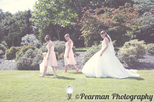 Lawn, Grounds, Bridesmaids, Pearman Photography, Paige Rowland, Anthony Battista, Vintage Wedding, Kirkley Hall, Pink and White Colour Theme, Country Theme