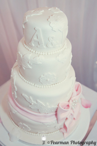 Wedding Cake, Pearman Photography, Paige Rowland, Anthony Battista, Vintage Wedding, Kirkley Hall, Pink and White Colour Theme, Country Theme
