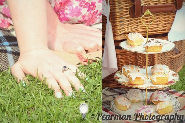Vintage, China, Picnic Basket, Paige Rowland, Anthony Battista, Engagement Shoot, Pearman Photography, Saltwell Park, Gateshead, Sunny Day, Cute, Love