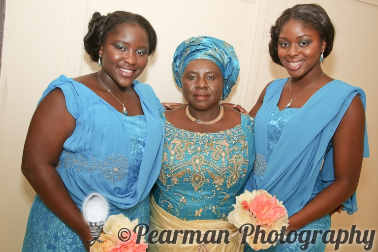 Pearman Photography, African Wedding, Boutique, Blue Bridesmaids, US Relatives, Ijeoma, Udu