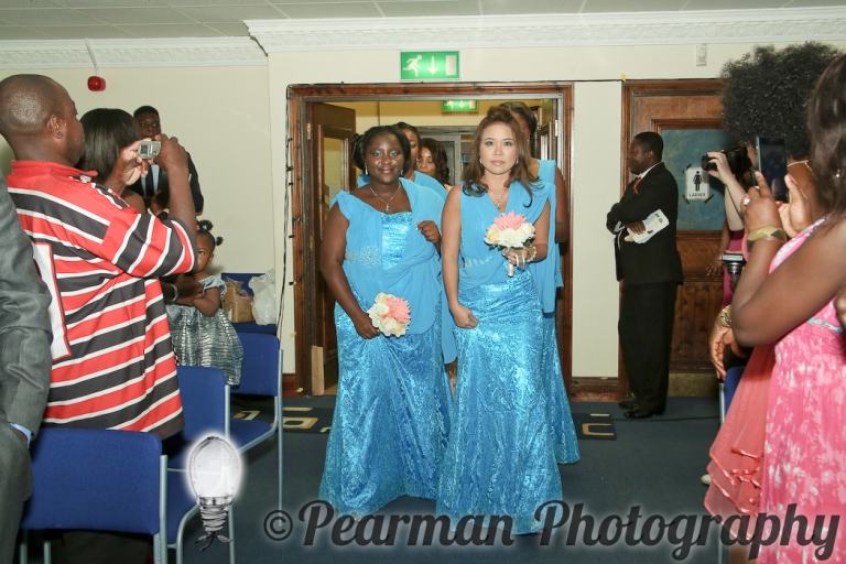 Pearman Photography, African Wedding, Boutique, Blue Bridesmaids, US Relatives, Ijeoma, Udu, Walk Up The Aisle