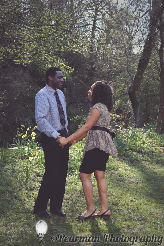 Pearman Photography, Engagement, Boutique, Ijeoma, Udu, Laughing, Jesmond Dene, Newcastle, Couple, Holding Hands