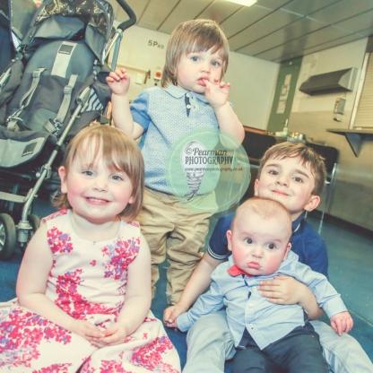 Jack with Big Sis Isla & Cousins