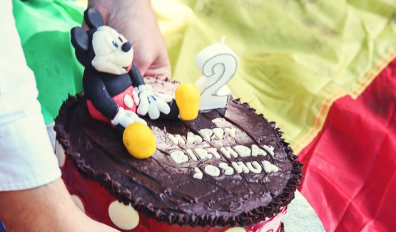 Mickey Mouse Cake, Homemade
