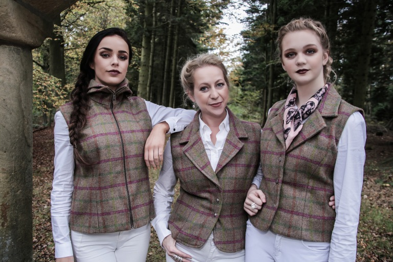 3 Models wearing Laland & Bo Tweeds
