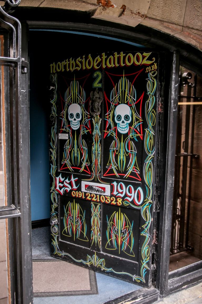 Black Tattoo shop door